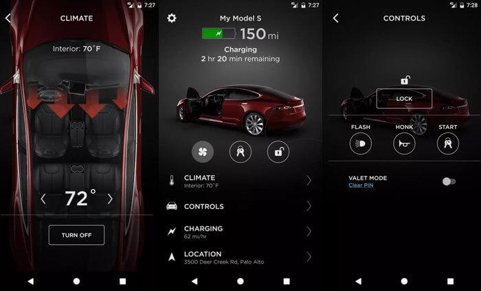 Tesla odświeża aplikację mobilną