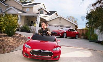 Samochód elektryczny Tesla dla dzieci